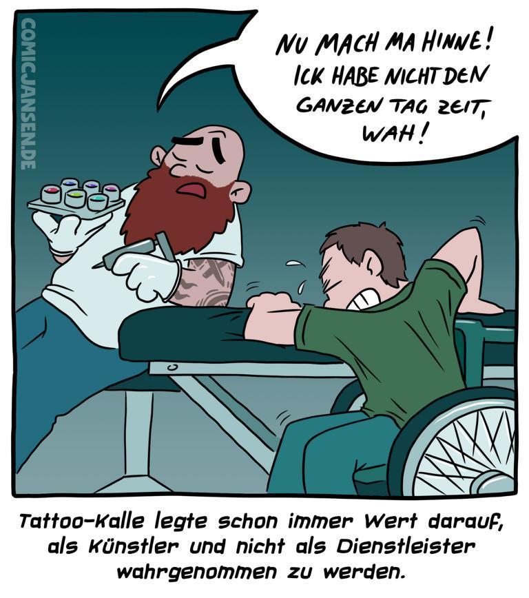 Künstler oder Dienstleister - kisscal.tattoo