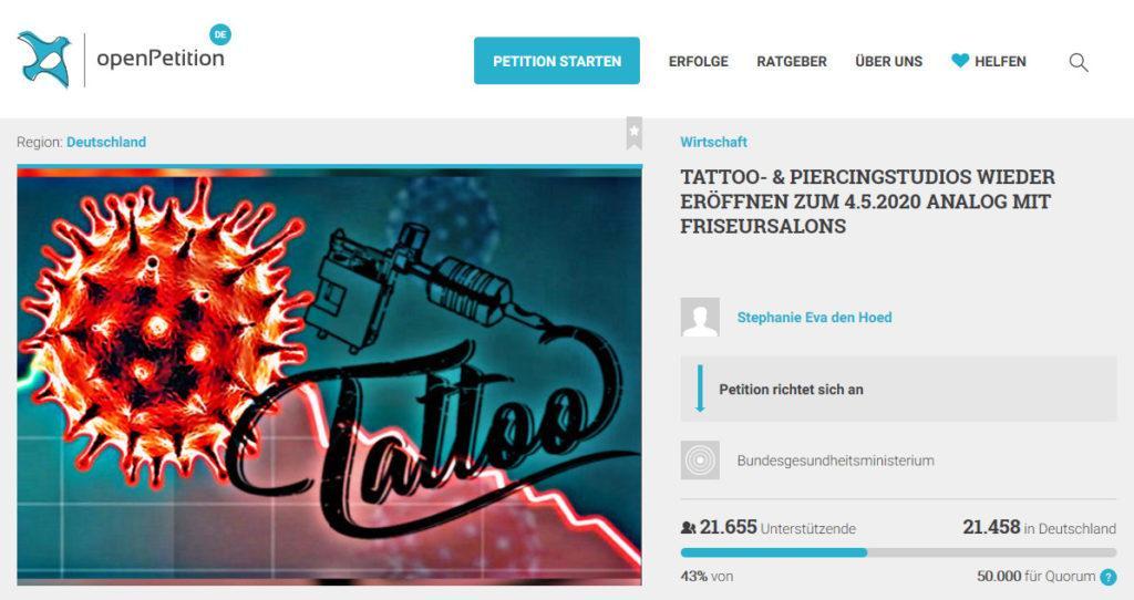 COVID-19: Tattoo&Piercing Studios bleiben geschlossen? - kisscal.tattoo